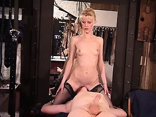 Blonde mature amateur dominatrix sexy forced handjob