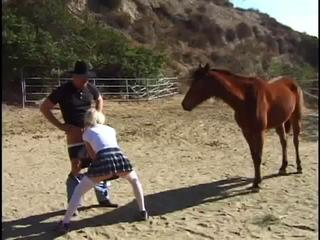 Blowjob Clothed Farm Outdoor Teen
