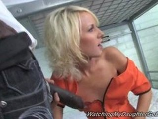 Big cock Blonde Blowjob Interracial Prison Skinny Teen