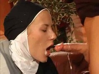 Cumshot Nun Swallow Teen Uniform Vintage