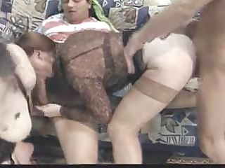 Anal Big cock Blowjob Hardcore Mature Stockings Threesome