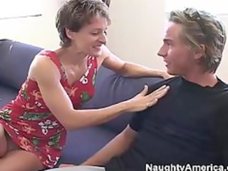 hot milf gets it inside the butt from her sons