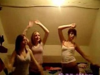 3 Tiny Teens Stripping And Danci...
