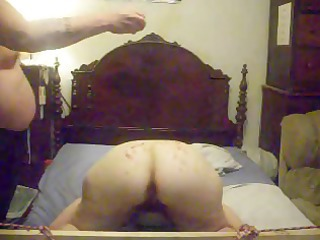 slutty fresh housewife lets her hubby light up