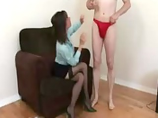 older  cfnm angel likes to give handjobs