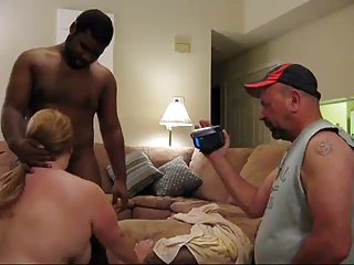 Hillbilly turns fat wife into black cock slut