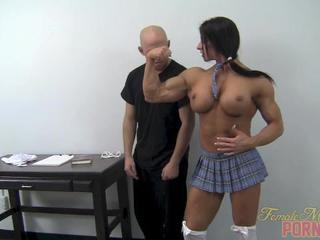 Big Tits Muscled School Silicone Tits Skirt Teacher