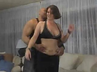 Tattooed MILF with big tits slurps down cock and