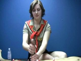 Amateur Cash Handjob Teen Uniform
