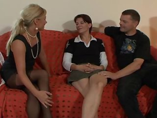 Amateur European French Old and Young Threesome