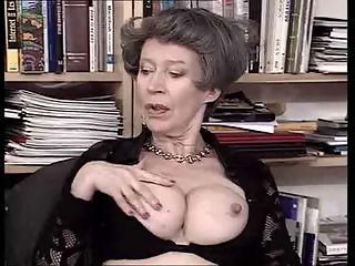 Big Tits European German Granny