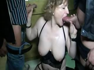 Blowjob Double Penetration Mature Outdoor Threesome