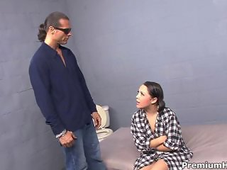 Sexy prisoner Kristina Rose getting interrogated and all holes drilled