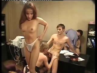Groupsex Office Russian Teen