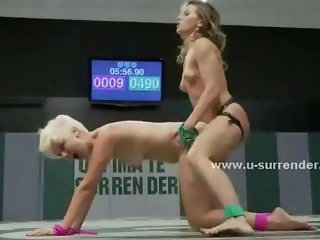 Sexy teen babes almost naked on the fight floor play and fuck eachother with toys in doggystyle lesbian dirty sex videoclips