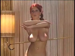 Amazing Big Tits Erotic MILF Natural Piercing Redhead Solo Stripper