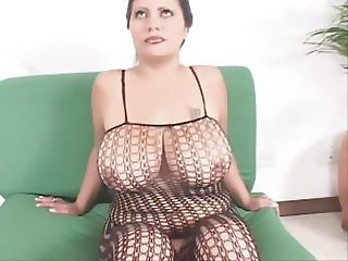 Big Tits Chubby Fishnet Lingerie MILF Natural