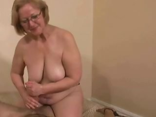 Amateur Chubby Glasses Handjob Mature SaggyTits