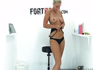 Another blonde babe that needs money