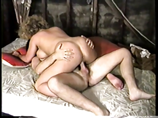 Blonde with huge tits gets fucked on the floor