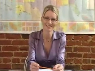 Amazing Cute Glasses MILF Teacher