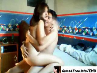 Teen couple doggy & riding fuck on cam