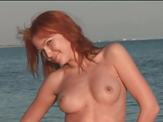 Beach Erotic Outdoor Redhead Teen