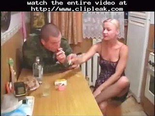Amateur Army Drunk Kitchen MILF Smoking