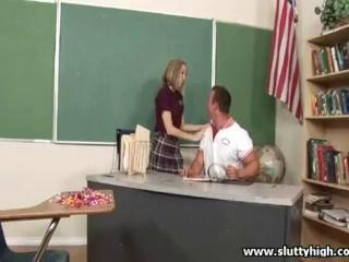 "Cute student is kissing with her lucky teacher"" class=""th-mov"