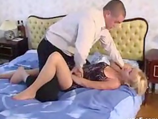 blond older  into nylons