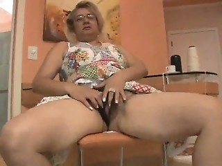 Glasses Granny Masturbating Panty