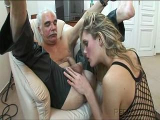 Blowjob Fishnet Old and Young