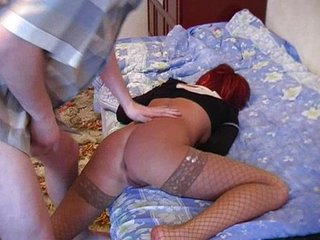 Amateur Doggystyle MILF Redhead Russian Stockings