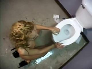 Kelly Wells gets fucked on a toilet