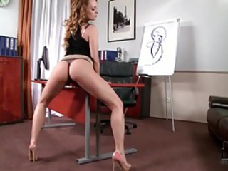 Brunette does pure ass tease video tubes
