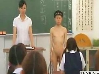 New Japanese transfer student goes naked in school CF...