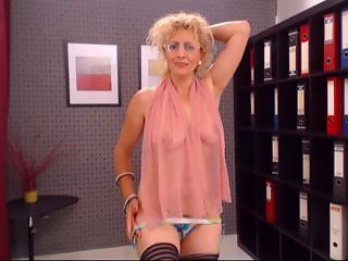 Glasses Lingerie MILF Office SaggyTits Secretary