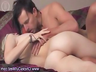Aussie chick fucked from behind with dildo