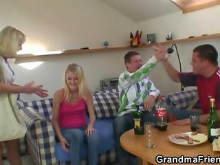 Amateur Daughter Drunk Family Old and Young Teen