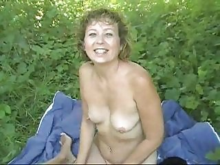 Amateur Mature Nudist Outdoor SaggyTits