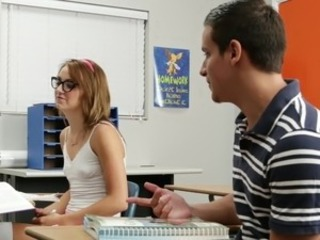 Glasses School Skinny Small Tits Teen