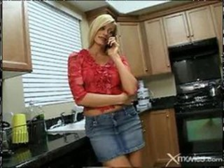 Jeans Kitchen MILF Skirt Wife