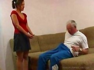 Amateur Daddy Daughter Old and Young Skirt Teen