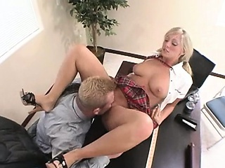 Amazing Licking MILF Office Student