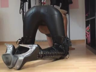 blond nice leather ass