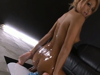 Asian Ass Babe Cute Japanese Oiled Teen