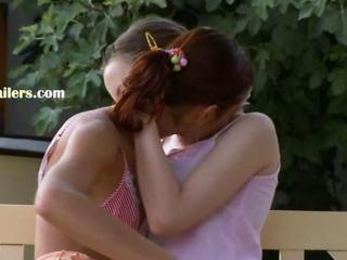 sapphic love story outside on the bench