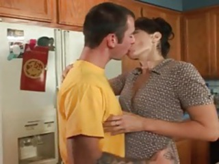 Seduced by a housewife that sucks his cock tubes