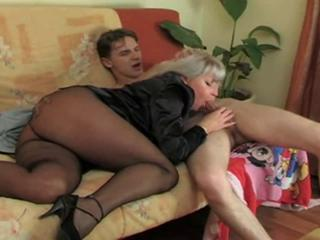 Ass Blowjob Mom Pantyhose