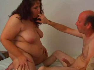 Fat Brunette Gets Creamed After Anal Coition